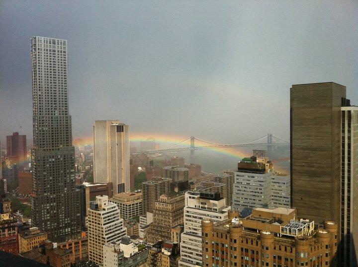 Rainbow over New York City